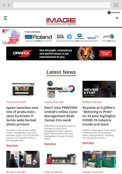 Image Magazines tablet screenshot